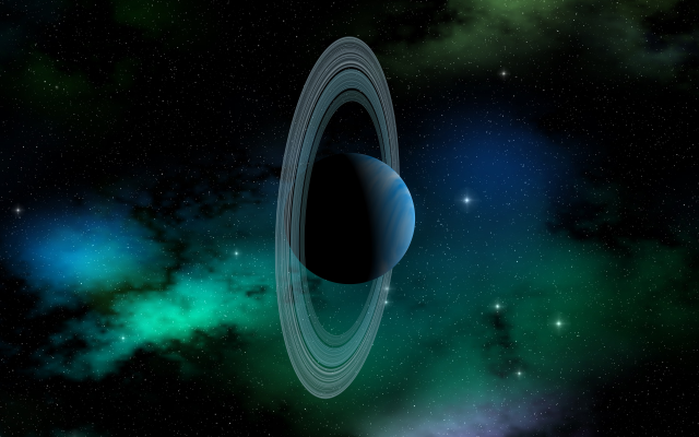 Wallpaper Uranus Planet Solar System Planetary Rings Space Art