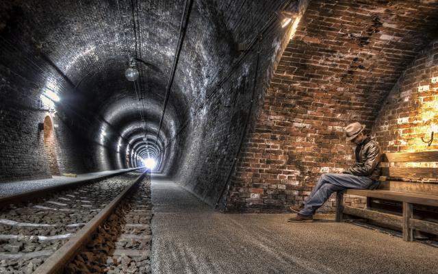 Wallpapers Underground, Urban, Railway, Tunnel, Lights
