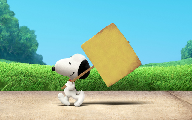 1920x1200 pix. Wallpaper Snoopy, Peanuts, dog, cartoon, grass, sign