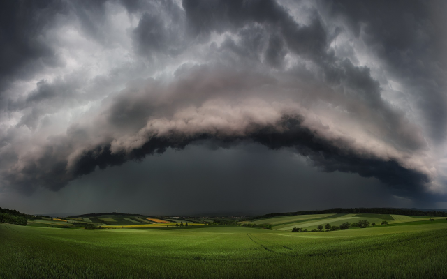 1920x1200 pix. Wallpaper supercell, storms, nature, landscapes, clouds, fields, thunder