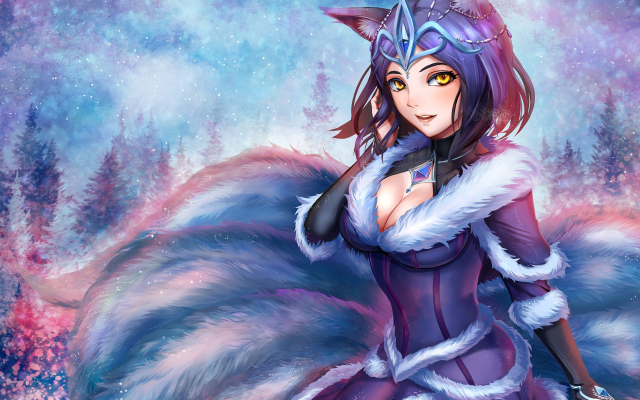 1920x1440 pix. Wallpaper Naex, League of Legends, Midnight Ahri, lol