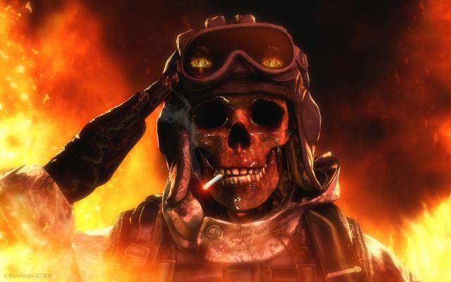 Wallpapers cgi render skull fire wallpaper cgi render skull fire voltagebd Choice Image