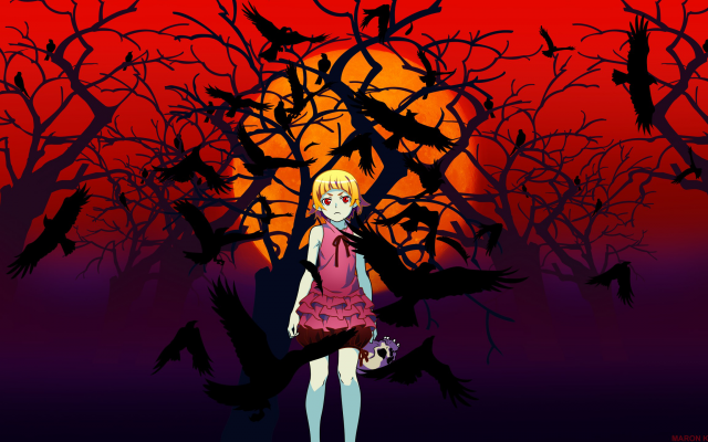 Wallpaper Anime Monogatari Series Oshino Shinobu Blonde Short Hair