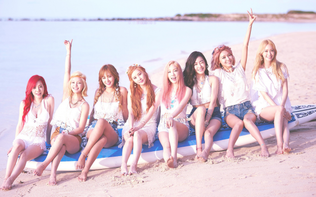 2200x1238 pix. Wallpaper SNSD, Girls Generation, K-pop, Asian, musicians, models, singers, Korean, beach, women, women outdo