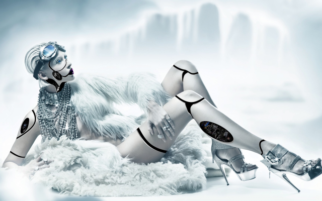 1920x1080 pix. Wallpaper women, digital art, robots, cyborgs, technology, cables, photo manipulation, high heels, stiletto