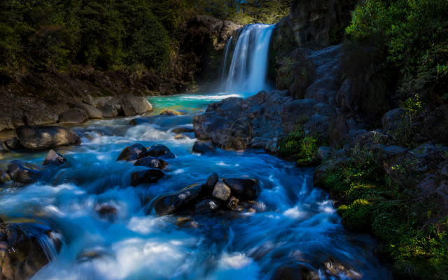 2048x1365 pix. Wallpaper tawhai falls, tongariro national park, new zealand, waterfall, river, forest, nature