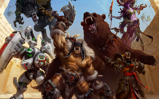 Wallpaper Heroes Of The Storm Arena Mode Rexxar Kharazim