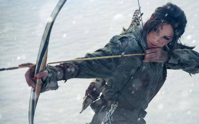 Wallpaper Lara Croft Tomb Raider Cosplay Bow Arrow