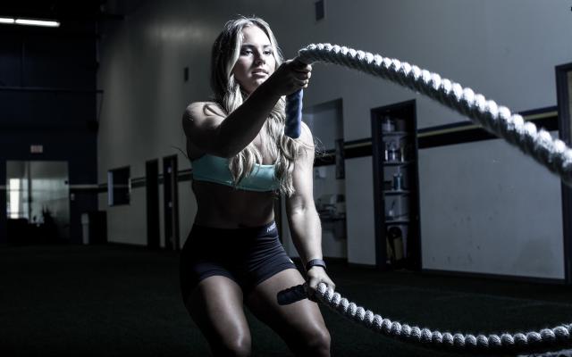 crossfit, rope, workout, women, sport, gym wallpaper