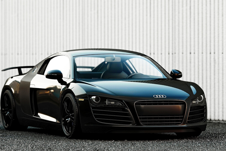 Wallpaper Audi R8, Audi, Cars, Audi R8 Spoiler, Black