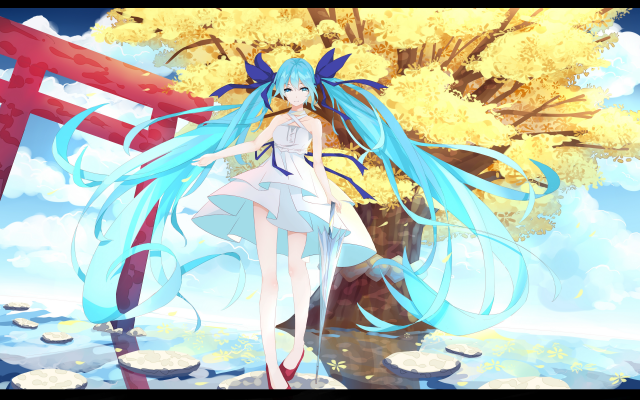 7000x4000 pix. Wallpaper vocaloid, hatsune miku, anime, girl