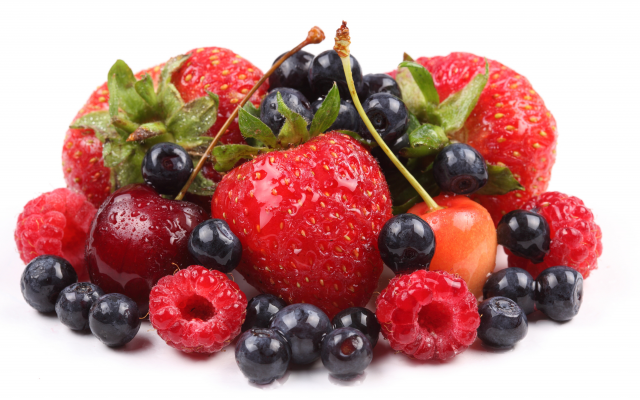 4500x3000 pix. Wallpaper fruits, food, tasty, berry, strawberry, raspberry, cherry, black currant