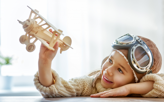 6500x4538 pix. Wallpaper toy, aircraft, helmet, glasses, smile, children, boy