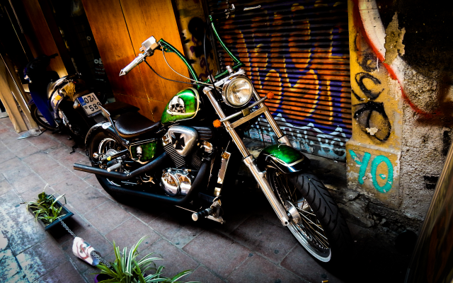 4608x2592 pix. Wallpaper chopper, honda, motorcycle, bike