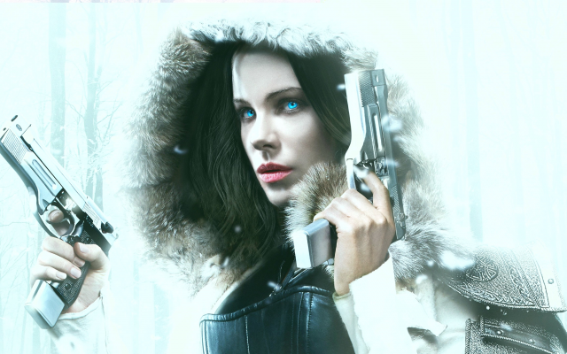 3840x2160 pix. Wallpaper underworld: blood wars, movies, gun, snow, winter, fur, late beckinsale, selene