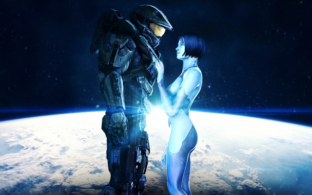 3052x1541 pix. Wallpaper john-117, space, cortana, halo, master chief, halo 4, planet, video games
