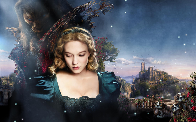 2000x1600 pix. Wallpaper lea seydoux, beauty and the beast, vincent cassel, castle, movies