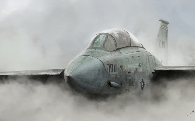 1986x1080 pix. Wallpaper military aircraft, dust, smoke, art, aviation, jet fighter, jet aircraft