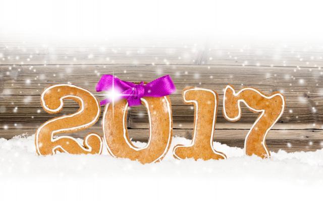 Wallpaper news year, 2017, christmas, snow, art, graphics, holidays
