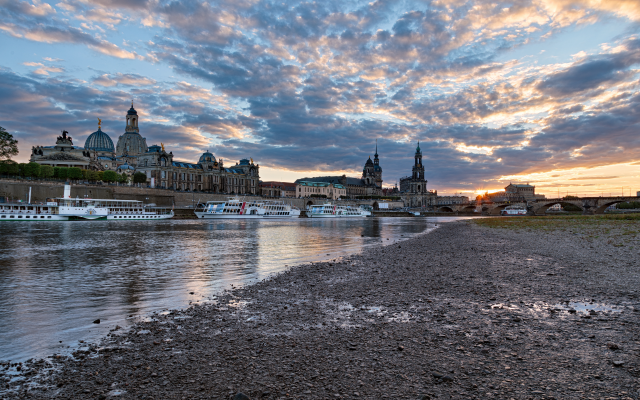 5417x3137 pix. Wallpaper dresden, germany, saxony, city, clouds, river
