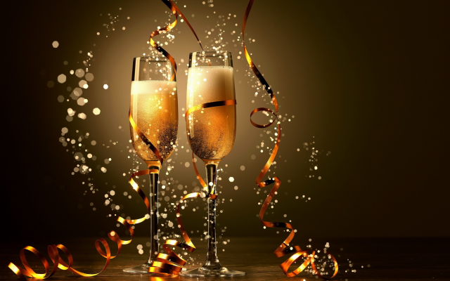 2048x1347 pix. Wallpaper new year, glasses with champagne, champagne, christmas