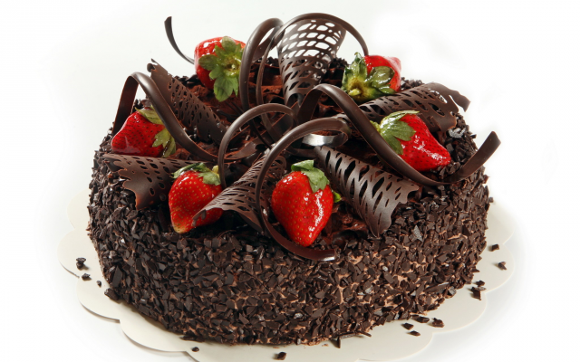 2048x1536 pix. Wallpaper dessert, yummy, chocolate, cake, strawberry, food