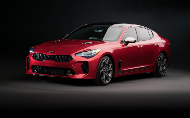 1920x1440 pix. Wallpaper 2018 kia stinger gt us, kia stinger, cars, kia, red cars