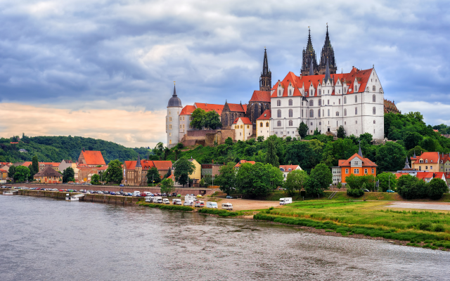 3782x2516 pix. Wallpaper albrechtsburg, meissen, germany, castle, river, city