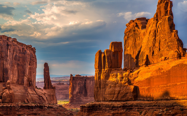 1920x1125 pix. Wallpaper Arches National Park, utah, usa, mountains, cliffs