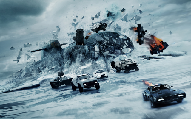 5680x3195 pix. Wallpaper the fate of the furious, movies, submarine, cars, ice, winter