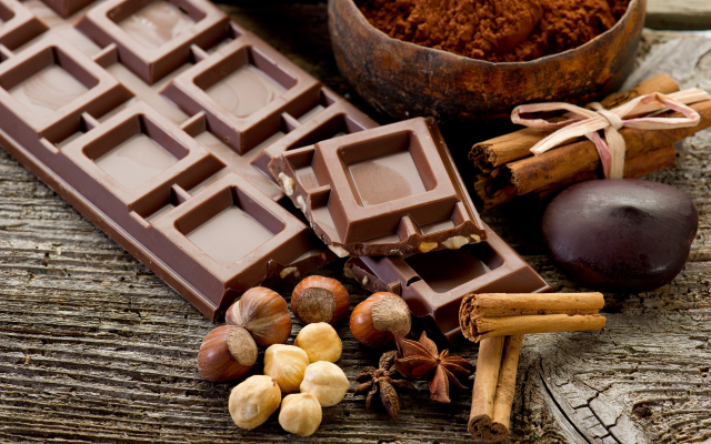 1920x1200 pix. Wallpaper chocolate, nuts, food
