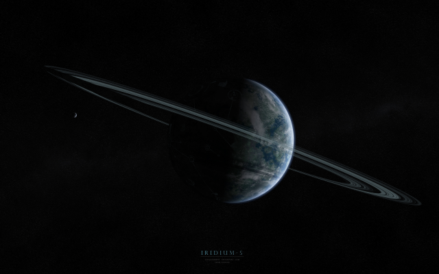 4000x2500 pix. Wallpaper planet, rings, stars, iridium 5, space