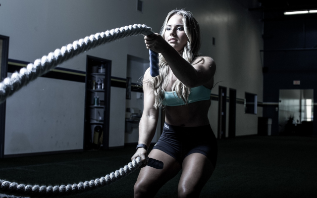 2438x1625 pix. Wallpaper fitness model, ropes, crossfit, women, fitness, sport