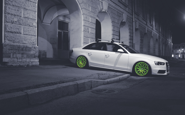 2560x1920 pix. Wallpaper audi, cars, city, night, tuning, audi a4