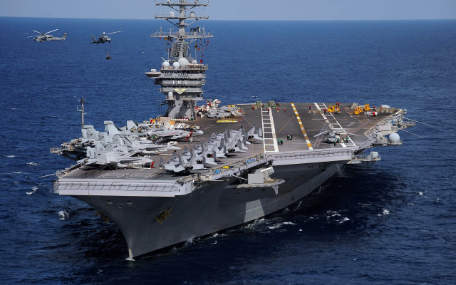 3950x2805 pix. Wallpaper nimitz, uss dwight d. eisenhower, cvn-69, aircraft carrier, aircraft, helicoptert, sea, ship