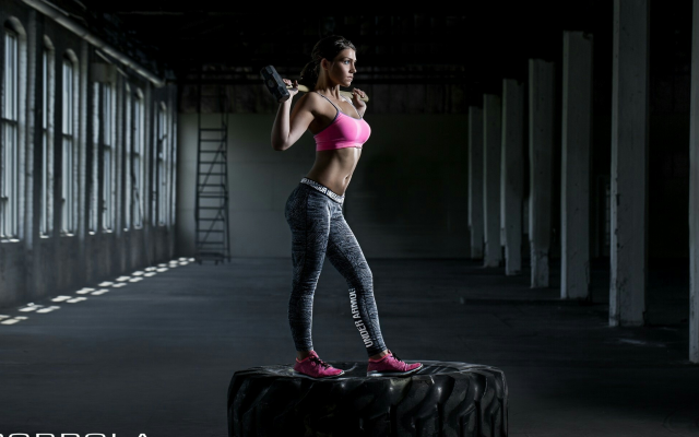 2200x1209 pix. Wallpaper crossfit, women, sport, fitness model, pink bra, sport bra