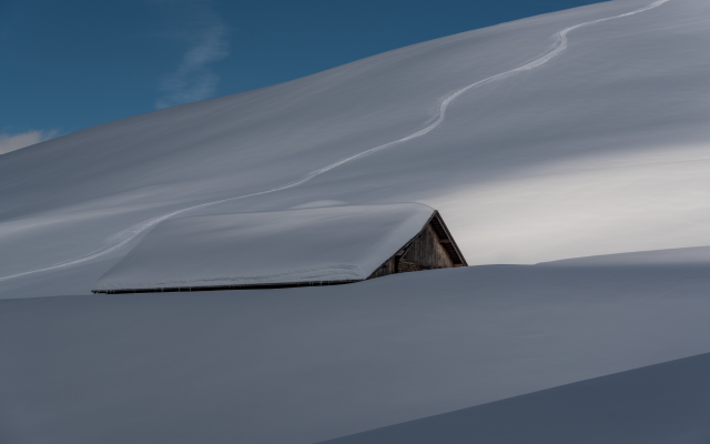 6013x3979 pix. Wallpaper house, snow, roof, winter, nature