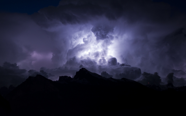 3691x2461 pix. Wallpaper storm, lightning, dark clouds, nature, thunderstorm