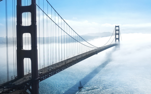 2500x1667 pix. Wallpaper golden gate bridge, bridge, usa, san francisco, clouds, city, nature