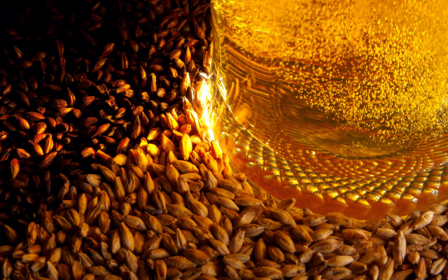 3840x2400 pix. Wallpaper beer, barley, vials, food, drink