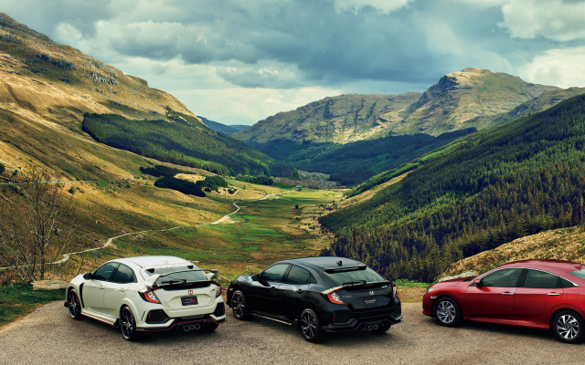 3164x1488 pix. Wallpaper honda, cars, mountains, forest, valley, nature, glen croe, arrochar alps, cowal peninsula, scotland