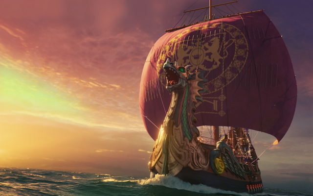 2560x1839 pix. Wallpaper sailboat, sea, dragon, boat, ship, the chronicles of narnia: the voyage of the dawn treader, movies
