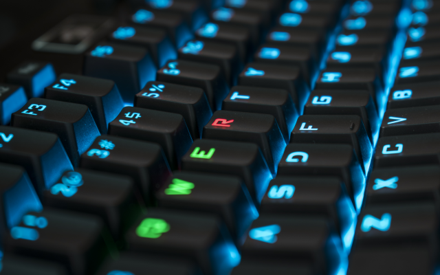 6000x3375 pix. Wallpaper rgb, mechanical keyboard, keyboard, qwerty