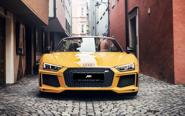 3840x2160 pix. Wallpaper 2017 audi r8 spyder, cars, audi r8, yellow cars, city
