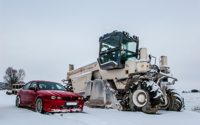 3008x2000 pix. Wallpaper jaguar, winter, snow, cars