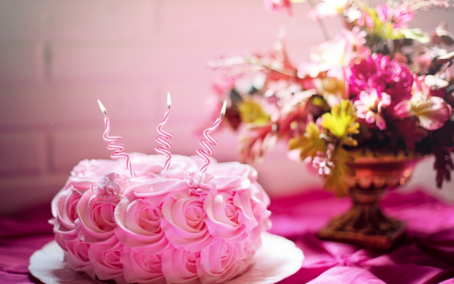 1920x1080 pix. Wallpaper cake, food, holidays, flowers, candles