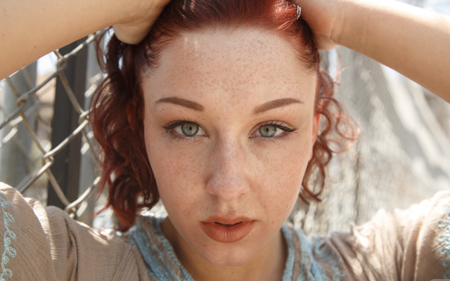 1920x1280 pix. Wallpaper spencer bisson, zishy, women, redhead, freckles