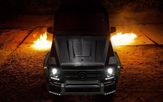 2048x1365 pix. Wallpaper mercedes-benz, supercar, fire, mercedes g65, cars