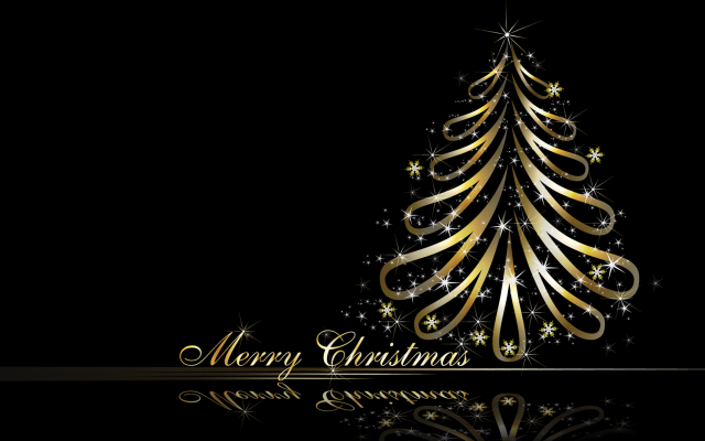 1920x1080 pix. Wallpaper digital art, reflection, christmas tree, christmas, new yera, holidays, merry christmas
