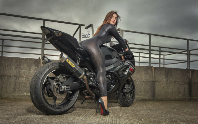 2048x1365 pix. Wallpaper motorcycle, suzuki gsx, motogirls, women, fetish, bike, suzuki, brunette